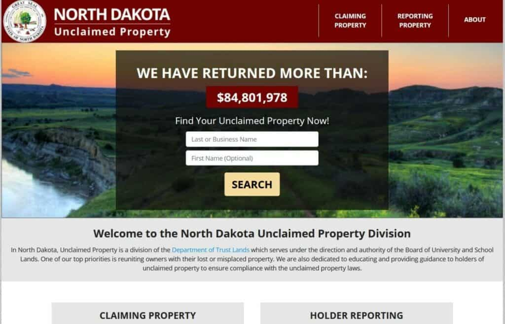 Your Guide to North Dakota's Unclaimed Property