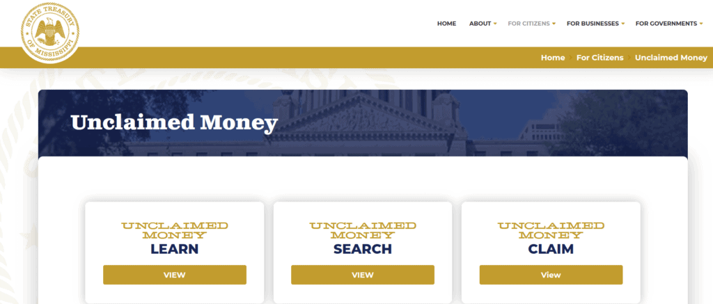 Your Guide to Unclaimed Property in Mississippi