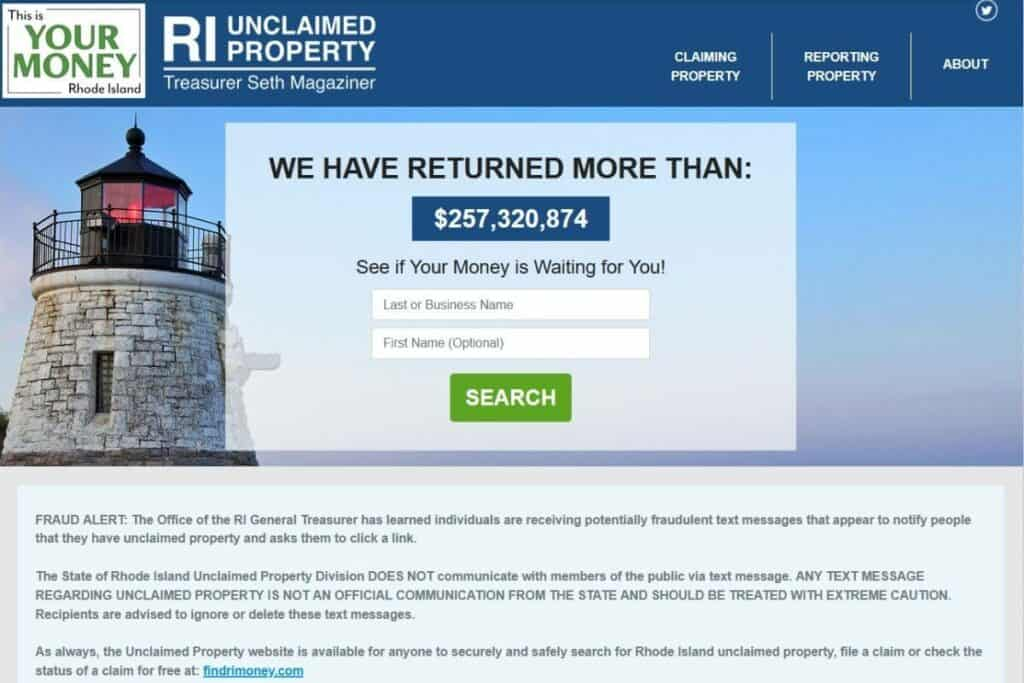 Your Ultimate Guide to Rhode Island Unclaimed Assets