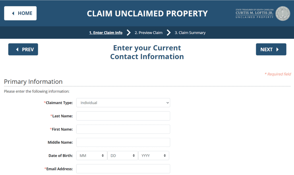 Finding Your Unclaimed Money in South Carolina Step 2-2