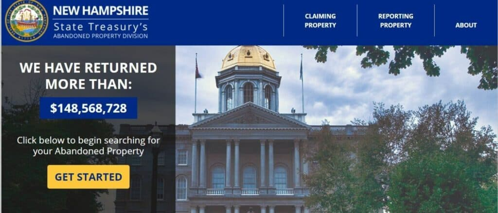 How to Claim Unclaimed Property in New Hampshire Step 1