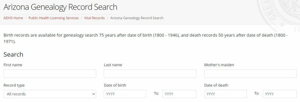Arizona Death Databases