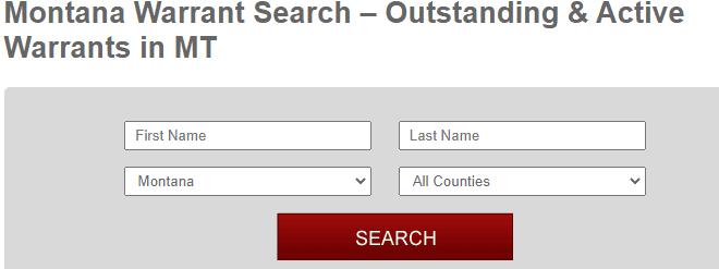 Conducting a Montana Warrants Search