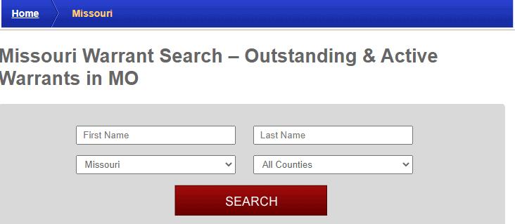 Conducting a Warrant Search in Missouri