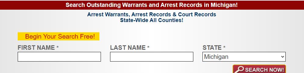 Conducting a Warrants Search in Michigan