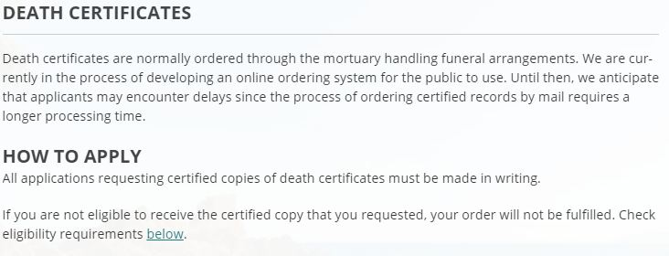 Death Certificates in Hawaii