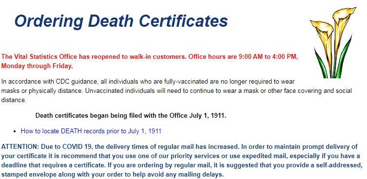 Death Certificates in Kansas