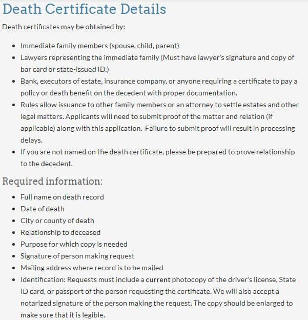Death Certificates in Wyoming
