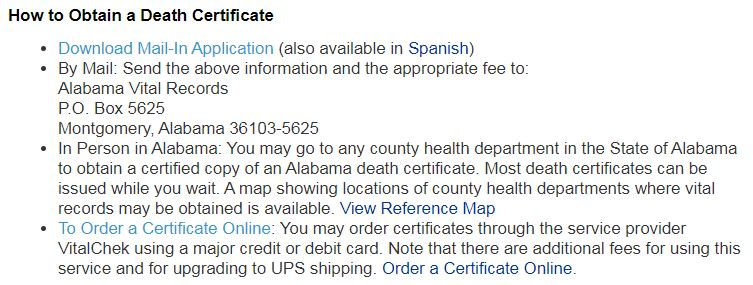 How to Obtain a Death Certificate