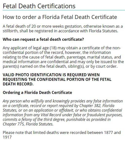 How to Request Death Certificates in Florida