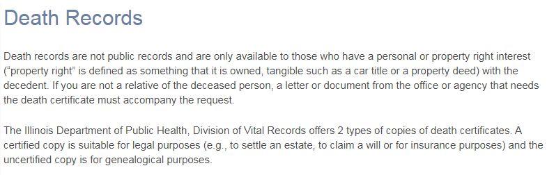 Illinois Death Records