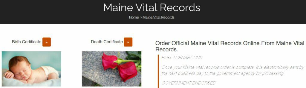 Maine Death Records