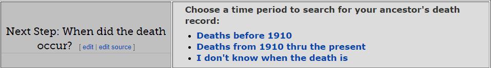 Missouri Death Databases