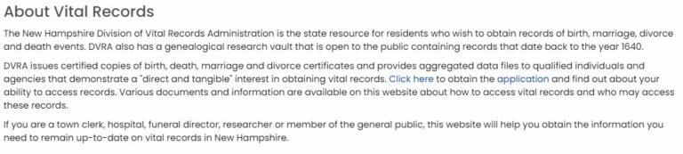 New Hampshire Death Records