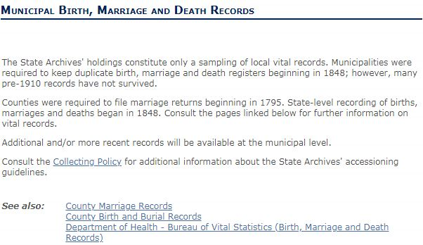 New Jersey Death Records