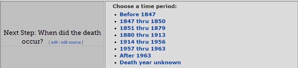New York Death Databases