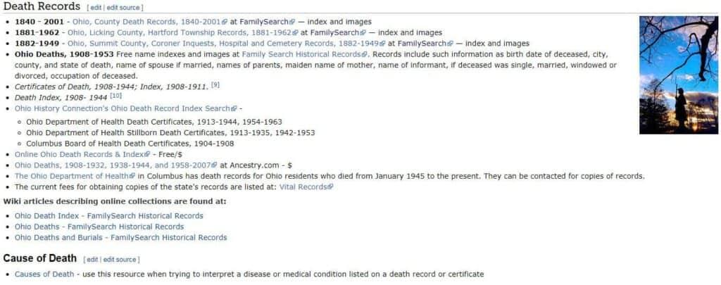 Ohio Death Records