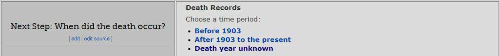 Oregon Death Records