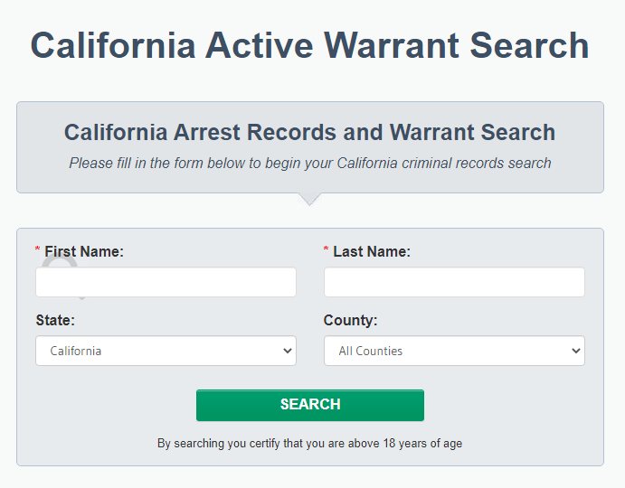 Performing a Warrant Search in California