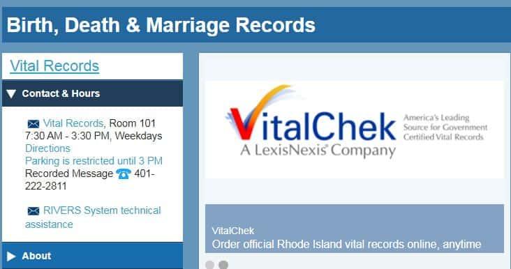 Rhode Island Death Records