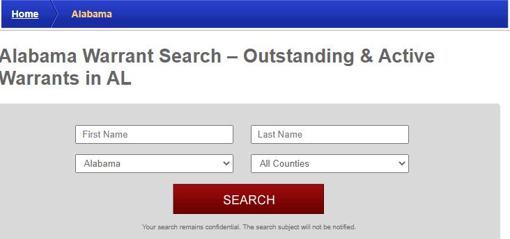 Searching for Alabama Arrest Warrants