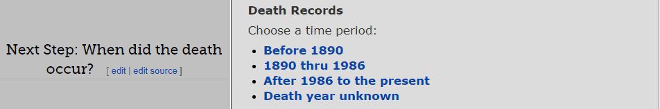 Texas Death Databases