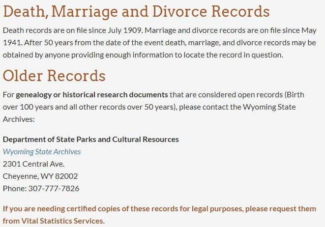 Wyoming Death Records