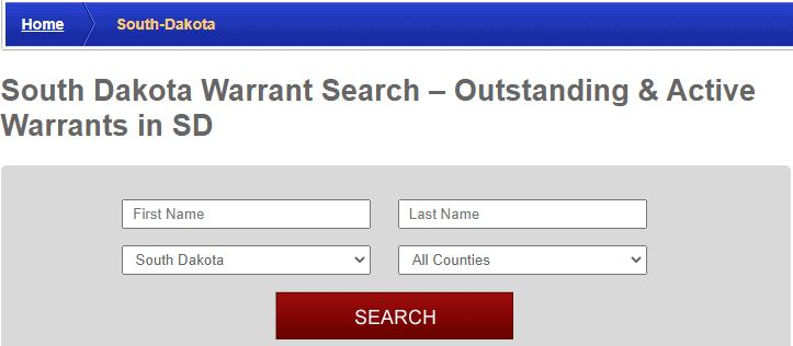 Conducting Arrest Warrants in South Dakota