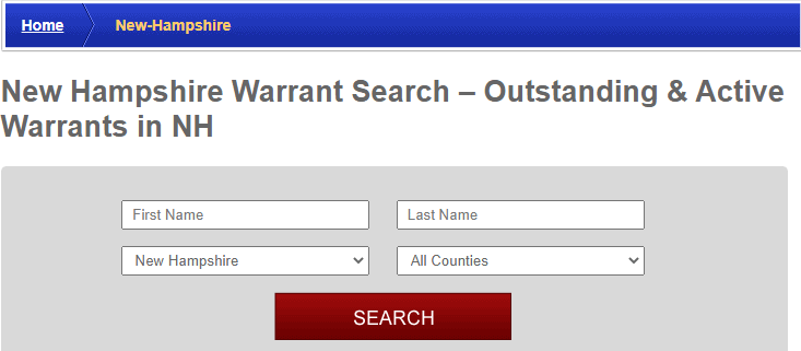 Conducting a New Hampshire Warrants Search