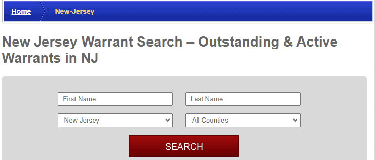 Conducting a New Jersey Warrants Search