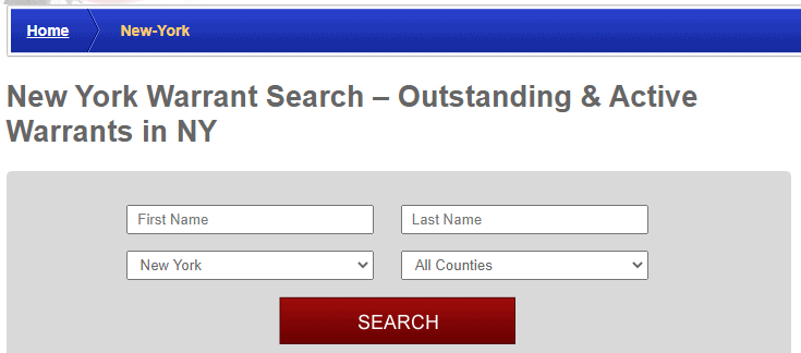 Conducting a New York Warrants Search