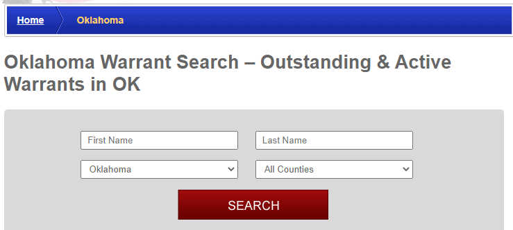Conducting a Warrants Search in Oklahoma