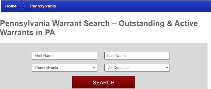 Conducting a Warrants Search in Pennsylvania