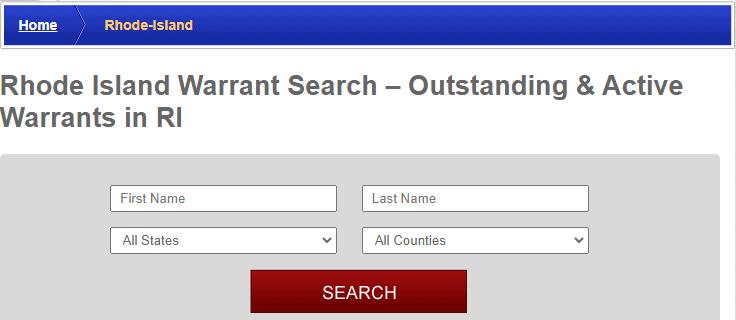 Conducting a Warrants Search in Rhode Island