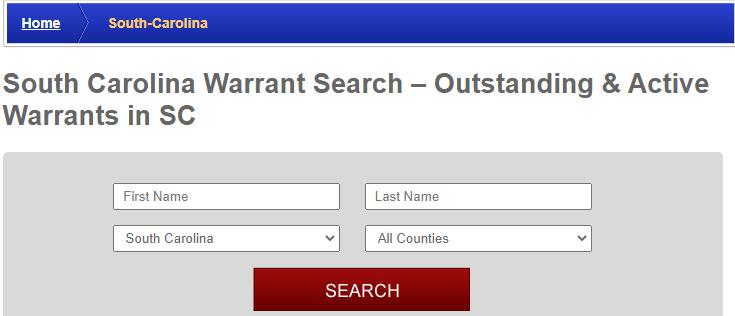 Conducting a Warrants Search in South Carolina