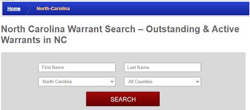 Conducting a warrant search in North Carolina