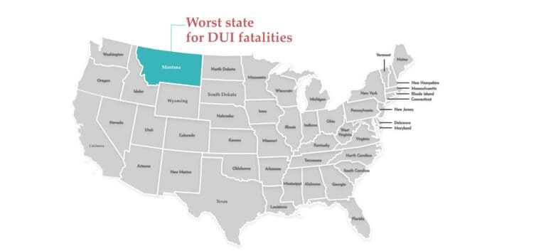 Worst state for DUI