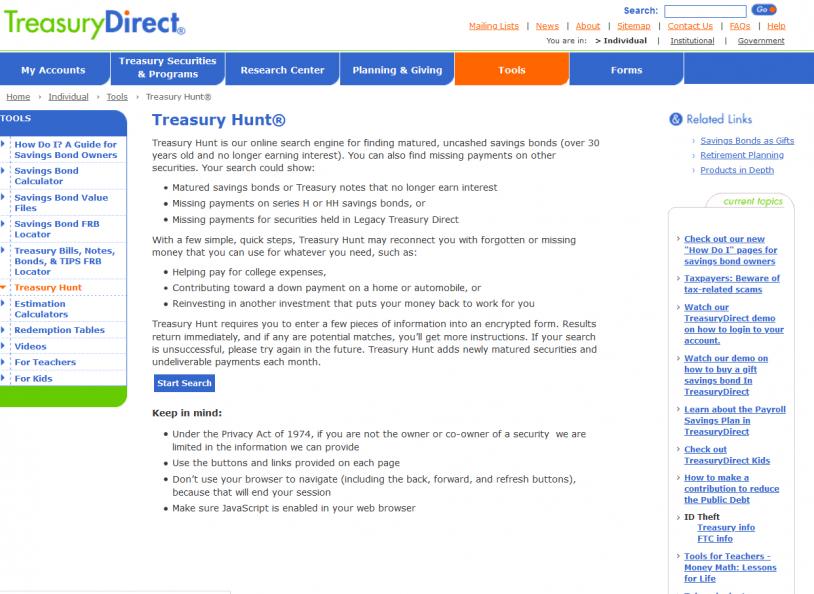 Other Database - Treasury Direct