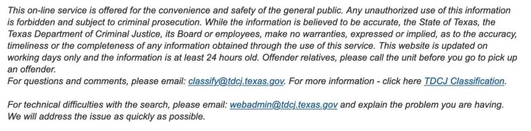 Texas DOC Inmate Search 2